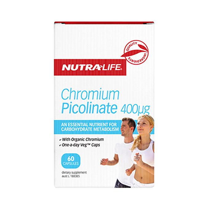 NutraLife - Chromium Picolinate 400ug - 60 capsules