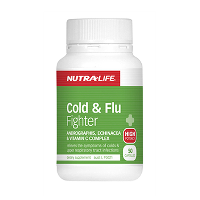 NutraLife - Cold and Flu Fighter - 50 capsules