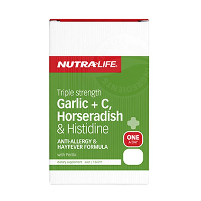 NutraLife - Garlic + C, Horseradish - 50 capsules