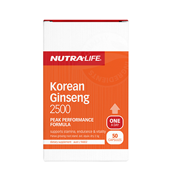 NutraLife - Korean Ginseng 2500 - 50 capsules