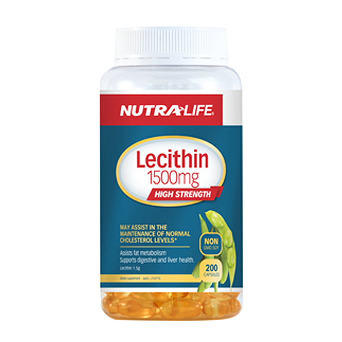 NutraLife - Lecithin 1500 High Strength - 200 capsules