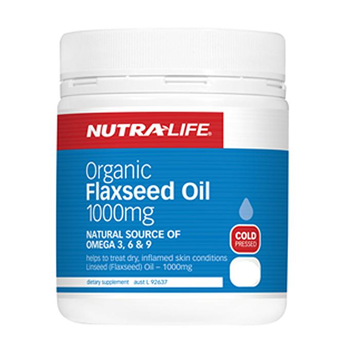NutraLife - Organic Flaxseed Oil 1000mg - 120 capsules