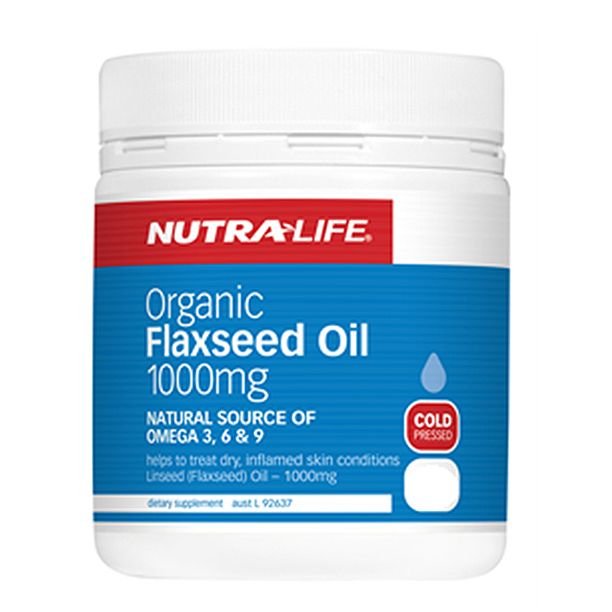 NutraLife - Organic Flaxseed Oil 1000mg - 200 capsules