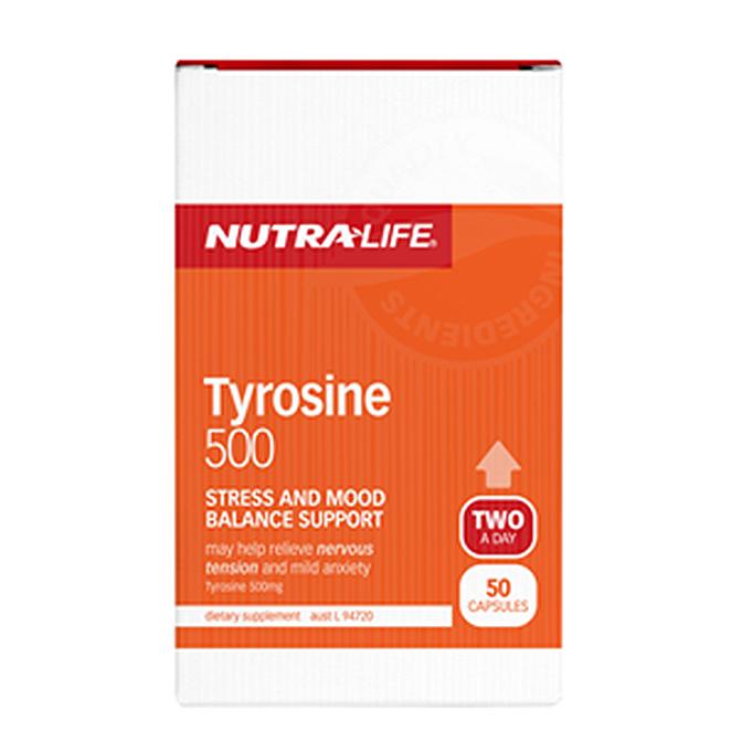 NutraLife - Tyrosine 500mg - 50 capsules