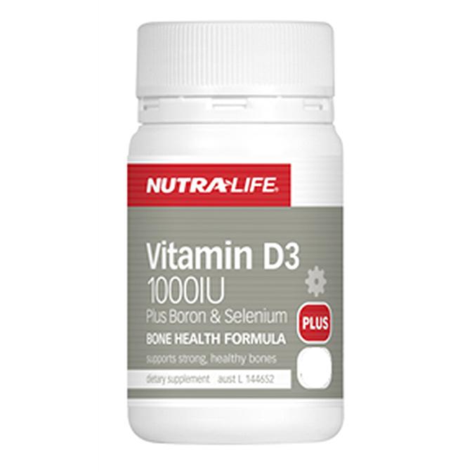NutraLife - Vitamine D3 1000iu + Boron and Selenium - 180 capsules