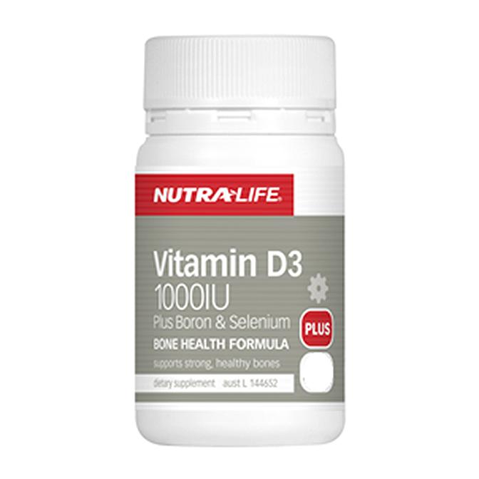NutraLife - Vitamine D3 1000iu + Boron and Selenium - 60 capsules