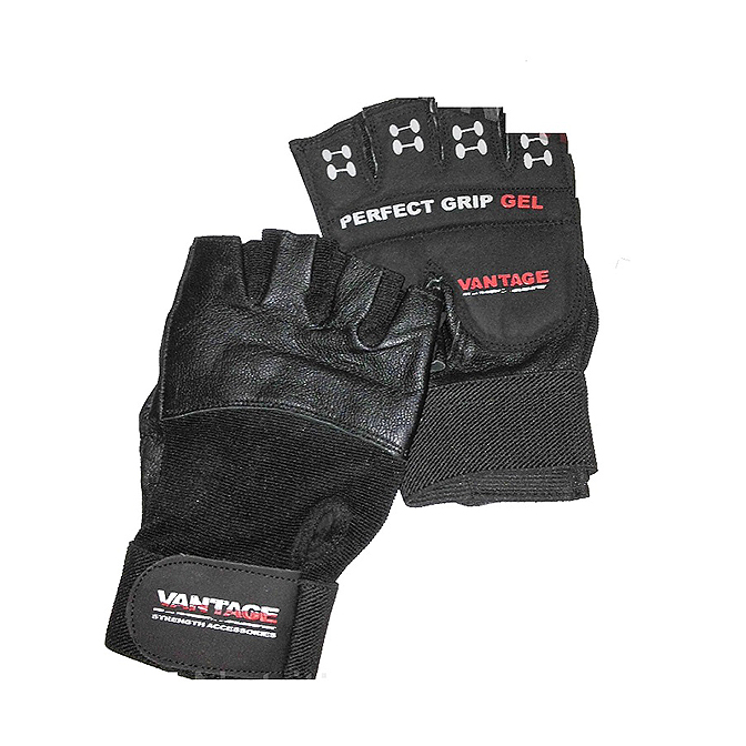 Vantage - Wrist Support Gym Gloves - Male Black