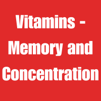 Vitamins - Memory and Concentration